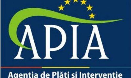 Anunț APIA – suspendarea primirii cererilor unice de plată